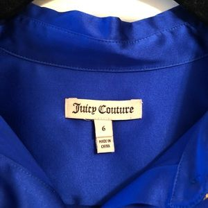 Juicy Couture Tops - Juicy Couture Blue Silky Long Sleeve Button Up